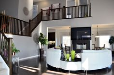 Great Room Great Rooms, My House, Stairs, Table, Furniture, Home Decor, Ladders, Homemade Home Decor, Stairway