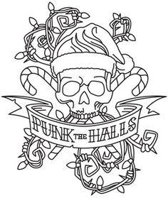 Tattoo Christmas - Punk the Halls design (UTH5518) from UrbanThreads.com