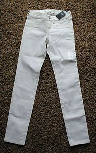 Girls abercrombie Kids White Jeans Size 16 New withTags Free Shipping Starting Bid $19.99