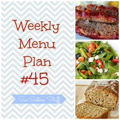 Let us help you plan your menu for the upcoming week! SixSistersStuff.com