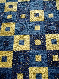 """Free motion quilting by Ms. Lottie (New Zealand): """"After 400 metres of thread, I am beginning to think I am over-quilting this quilt."""""""
