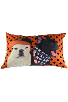 "Rectangular dog pillow with an orange background comes with a polyester insert.     Measures: 13"" x 20""    Sf Dog Pillow  by Dogolove. Home & Gifts - Home Decor - Pillows & Throws California"