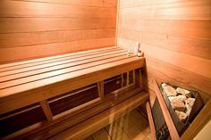 Corner sauna stove - good space-saver