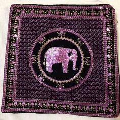 Black & purple elephant handbang