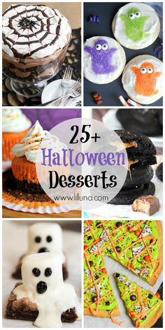 25+ Halloween Desserts - from creepy cupcakes to cute cookies, these are some of the best Halloween Desserts!! See it on { lilluna.com }