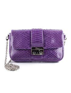 Steal find  Christian Dior Python Shoulder Bag. (TheRealReal.com) Christian  Dior 67763847cc464