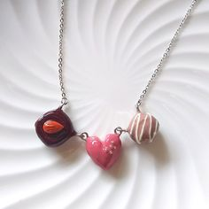 Ruby chocolate necklace made from plastic clay Minne, Clay, Plastic, Chocolate, Jewelry, Clays, Jewlery, Jewerly, Schmuck