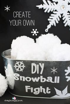 Create your own DIY Snowball Fight with just some yarn!!  Fun Kids activity.