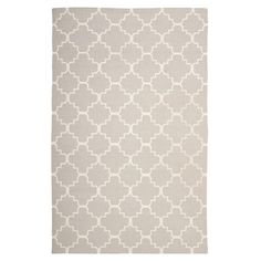 Anchor your bedroom or conservatory with this hand-woven rug, showcasing a trellis motif in grey and ivory.   Product: Rug...