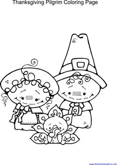 Thanksgiving Coloring Pages With Pilgrim Children Fun Turkeys Fruit Baskets Holiday Wreaths And More