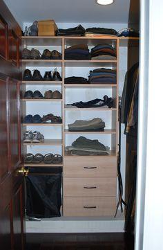 Walk In Closet In Umbrian Oak