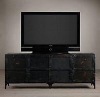 """Industrial Tool Chest Media Console   Wood Shelving & Cabinets   Restoration Hardware 61""""W x 18""""D x 28""""H"""