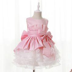 Duo Duo Princess Peach & White Ruffled Party Dress  #DuoDuo, #Pink, #Party