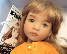 """Dianna Effner 13"""" Little Darling . Used. 5 day auction starting at $.99 and SOLD 2/16/15 for $1,025.00. Painted by Lana Dobbs."""