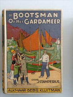 De bootsman op het Gardameer Ontwerp L. Landre