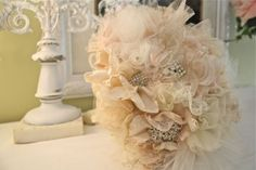 Real flowers are EXPENSIVE!! Advice help... :  wedding alternative bouquet fabric flower flowers Fabric Bouquet