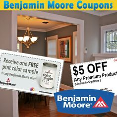 graphic relating to Benjamin Moore Printable Coupon named 7 Great Benjamin Moore Discount codes pictures within 2013 Benjamin