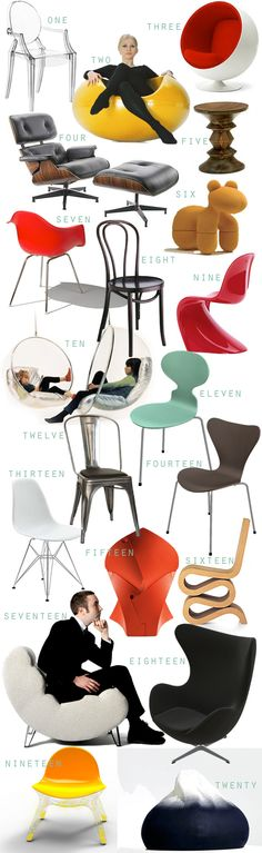The Weekend Notebook: Don't Just Sit There, Look Cool! Our Top 20 Designer Chairs Of All Time
