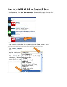 How to Install PDF Tab on your FB page.
