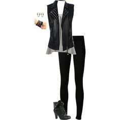 Edgy by hanakdudley on Polyvore featuring Vero Moda, Citizens of Humanity and Michael Kors