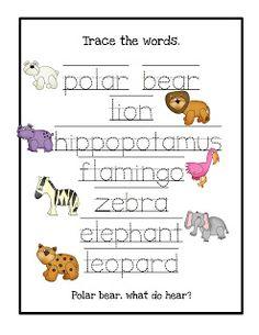 Preschool Printables Polar Bear What Do You Hear