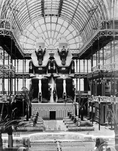 View of the Egyptian Court inside the Crystal Palace - 1854
