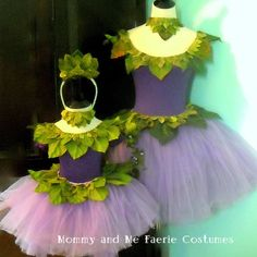Mother-daughter fairy costumes!