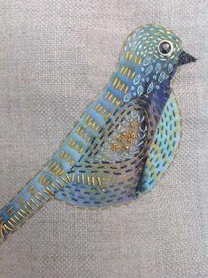 2014 Crazy bird,hand stitched