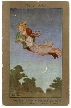 Sybil Barham-English (1977-1950) - Peter Pan postcard from 1910...