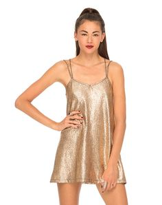 Motel Swallow Tail Slip Dress in Rose Gold, TopShop, ASOS, House of Fraser, Nasty gal