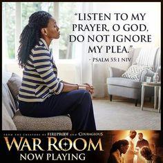 Listen to my prayer, O God, do not ignore my plea Psalm 55:1 Amen! #WarRoom