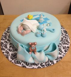 Baby Shower - Boy's baby shower cake