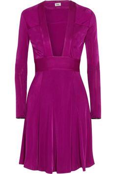 ISSA PHEODORA SATIN-JERSEY DRESS $297.50 http://www.theoutnet.com/product/603839