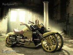 Steam powered motorcycle rendering: Stephenson's Rocket locomotive ...