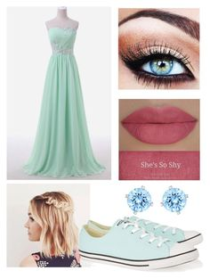 """""""Prom! #3"""" by wecansaveusfromfalling ❤ liked on Polyvore featuring She's So, Swarovski and Converse"""
