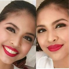 """From with a smile and without.. So pretty. @mainedcm #mainemendoza #yayadub #ALDUBKapitLang"""