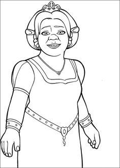 Shrek Tegninger til Farvelægning. Printbare Farvelægning for børn. Tegninger til udskriv og farve nº 25
