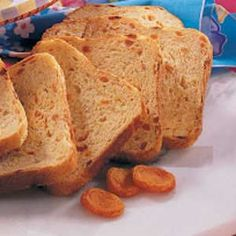 Apricot Nutmeg Bread Recipe (bread machine recipe)