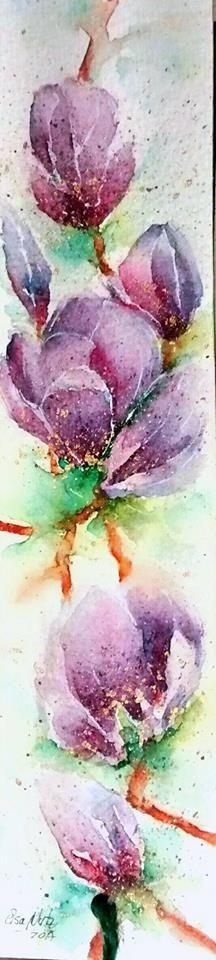 Flowers watercolor. Elsa Nutz