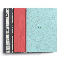 3 Pack Woodland Series Stitched Notebooks