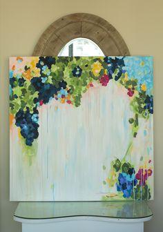 abstract acrylic painting on canvas, original artwork —via @TheFoxandShe