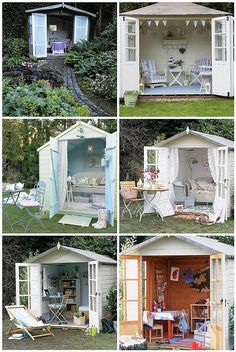 Shed Transformations Outdoor Shed Transformations - need to build one!Outdoor Shed Transformations - need to build one! Backyard Sheds, Backyard Retreat, Outdoor Sheds, Outdoor Rooms, Outdoor Living, Garden Sheds, Outdoor Office, Outdoor Retreat, Backyard Decks