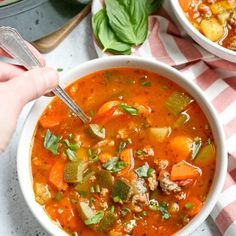 This Paleo Sausage Summer Vegetable Soup is easy to make and great for using all the summer veggies. Hearty, tasty, and healthy. Gluten free, dairy free, and low FODMAP. I know soup and summer Chicken Zoodle Soup, Veggie Soup, Chicken Salad, Whole 30 Recipes, Real Food Recipes, Paleo Recipes, Whole30 Sausage, Homemade Italian Sausage, Vegan Shortbread
