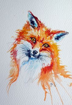 Buy Red Fox Watercolour By Kovacs Anna Brigitta On Artfinder Discover Thousands Of Other