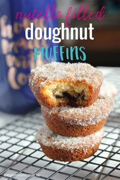 If you love donut muffins, you are going to love this Nutella filled version, our Nutella Filled Doughnut Muffins