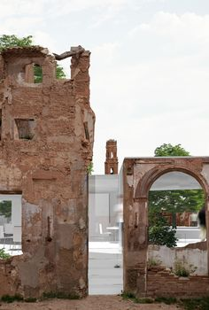 Intervention in the old village Architecture Renovation, Architecture Old, Historical Architecture, Architecture Details, Conservation Architecture, Adaptive Reuse, Brick And Stone, Old Buildings, Facade