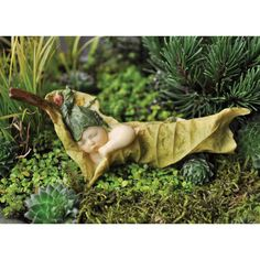 Leaf Fairy Baby - My Fairy Gardens.  Love this little one!