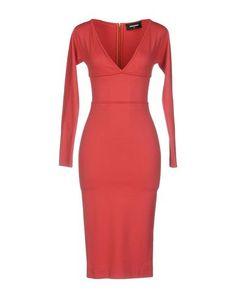 DSQUARED2 Knee-Length Dress. #dsquared2 #cloth #dress #top #skirt #pant #coat #jacket #jecket #beachwear #