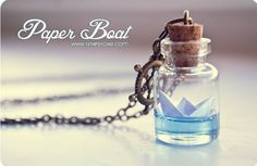Paper boat necklace!