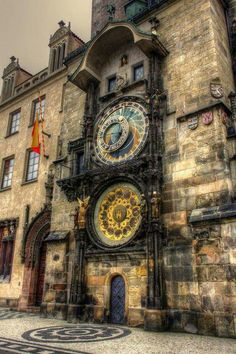 Prague astronomical clock, this is a tourist trap....but we can wait and watch it move if you guys want to....lol